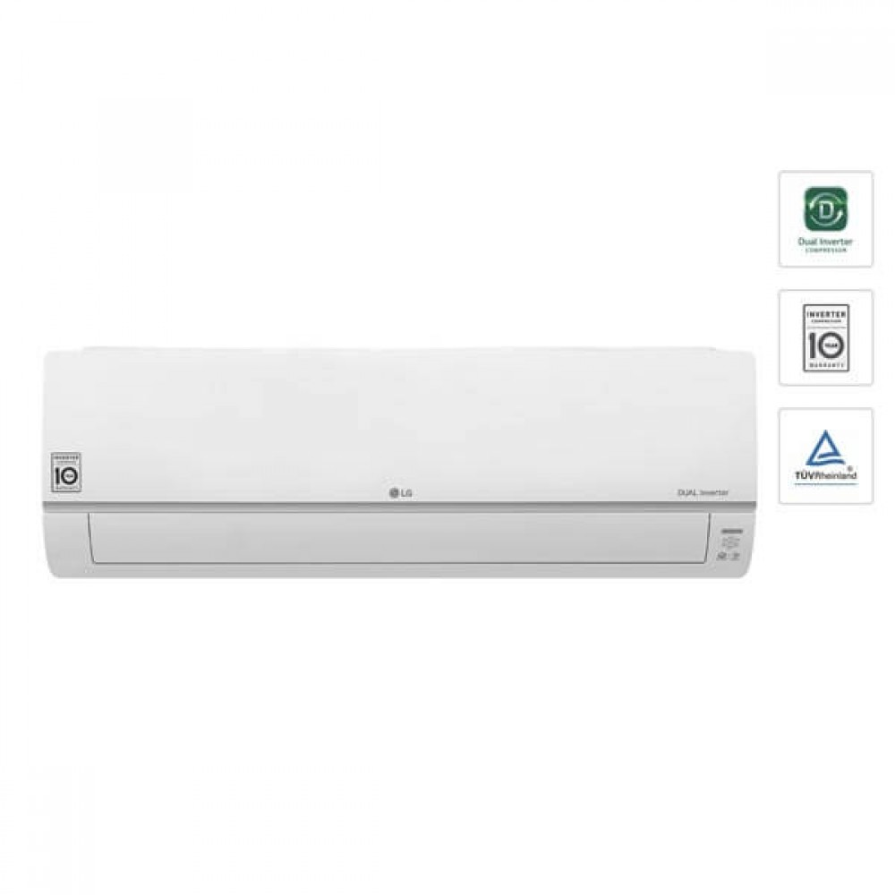 LG 1.0HP Dual INV with Ionizer n Smart ThinQ Wall Split S3Q09JA2PA