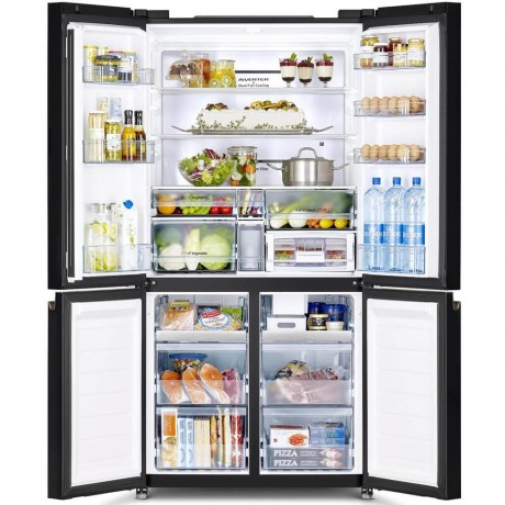 Hitachi 569L INV 4 Door Fridge RWB640VMOGBK