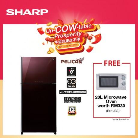 Sharp 720L INV 2 Door Fridge SJP88MFGM