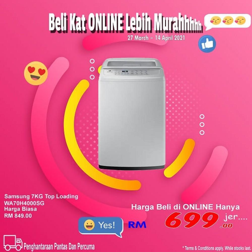 Samsung 7.0KG Top Loading WA70H4000SG