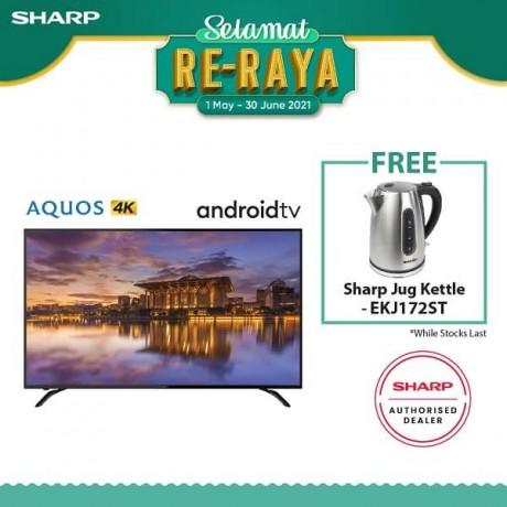 """Sharp 60"""" UHD 4K ANDROID TV 4TC60BK1X"""