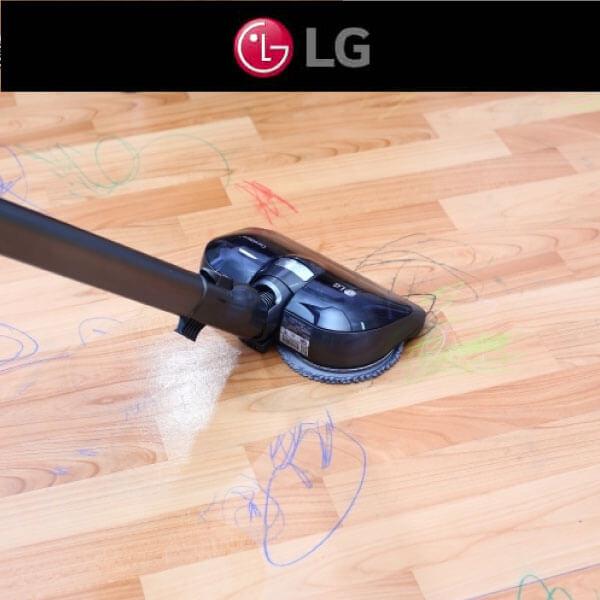 LG A9+濕拖無線吸塵器,挑戰小孩的髒污威脅